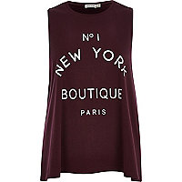 Red No 1 New York Boutique Paris tank top