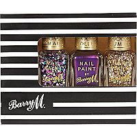 Barry M glitter nail polish gift set