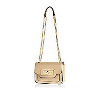 Gold lock front chain strap mini bag