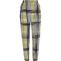 Yellow check joggers