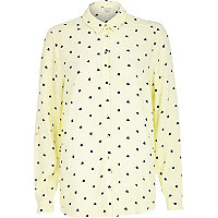Yellow heart print shirt