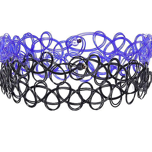 Black and purple stretch bracelet pack