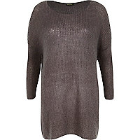 Dark grey mohair knit dress