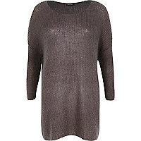 Dark grey mohair knit dress
