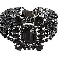 Black gemstone art deco bracelet