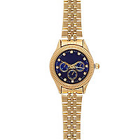 Gold tone wrap clip bracelet watch