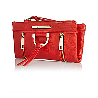 Red fold over purse