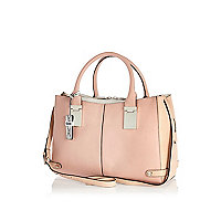 Pink contrast tote bag