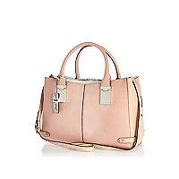 Pink contrast tote bag
