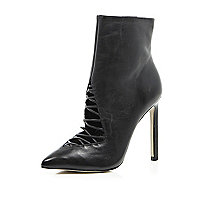 Black 5 Inch & Up cut out ankle boots