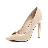 Light pink 5 Inch & Up cut out court shoes