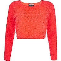 Orange Chelsea Girl fluffy jumper