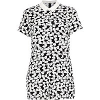 Black Chelsea Girl bow print playsuit