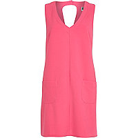 Pink Chelsea Girl textured shift dress