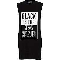 Black is the new black longline tank top