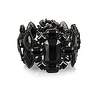 Black gemstone statement bracelet