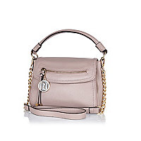Pink mini cross body slouch bag