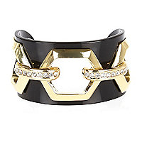Black hexagonal cut out cuff