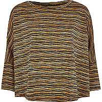 Black knitted stripe top