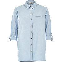Light blue chambray rolled cuff shirt