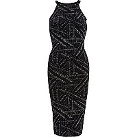 Navy sparkle bodycon dress