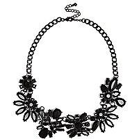 Black gemstone sparkle necklace