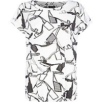 White shoe print t-shirt
