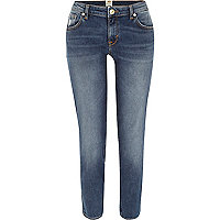 Mid wash Eva girlfriend jeans