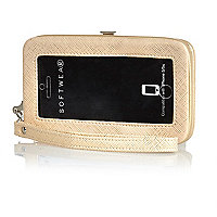 Gold iPhone purse case