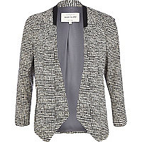 Cream square print jacket