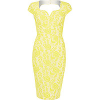 Yellow lace miracle dress