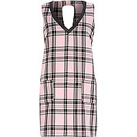 Pink Chelsea Girl check shift dress
