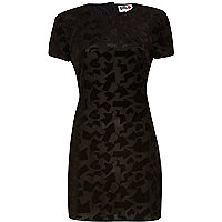 Black Chelsea Girl velvet print dress