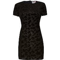 Black Chelsea Girl velvet print dress