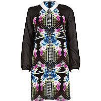 Black Chelsea Girl floral print dress