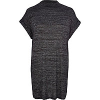 Grey marl turtle neck tunic