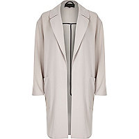 Grey relaxed duster jacket