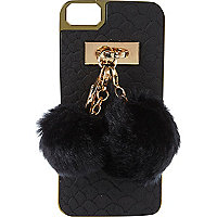 Black pom pom charm iPhone 5 case