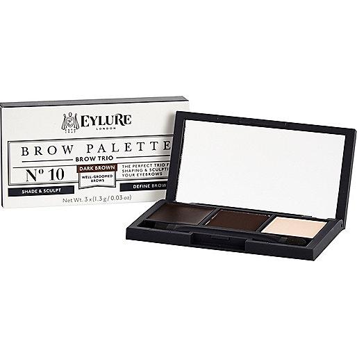 Dark brown Eylure brow palette