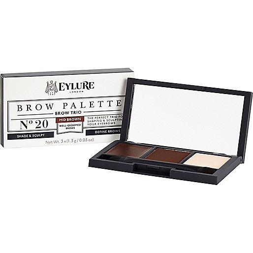 Mid brown Eylure brow palette