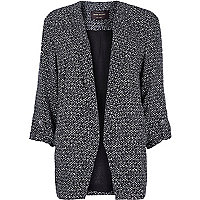 Black print relaxed fit blazer