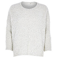 Cream boucle knit jumper