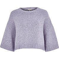 Lilac knitted kimono top