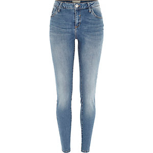 Mid authentic wash Amelie superskinny jeans