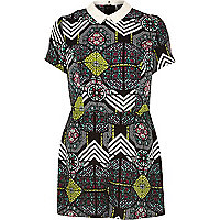 Black Chelsea Girl print playsuit