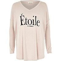 Pink etoile print swing top