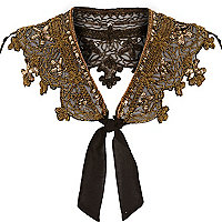 Gold beaded bolero collar