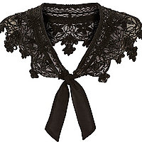 Black beaded bolero collar