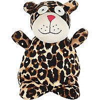 Heatable leopard doll