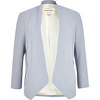 Grey open front blazer jacket